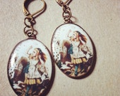 betsy blonde Alice in Wonderland cards earrings