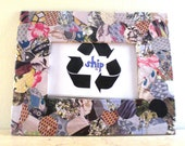 Recycled Picture Frame - Floral Patterned Collage