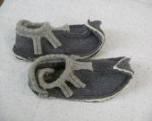 Grey Wool Elf Slippers