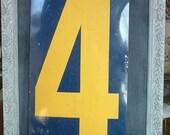 Reserved for Heather X Large vintage gas station number
