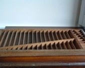 Old wooden divided tray