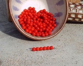 6mm, Vintage Primary Red glass beads