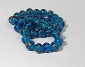Vintage  Zircon Round  Lampwork Glass Beads TT