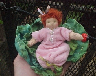 Baby Cabbage Tiny Waldorf Doll
