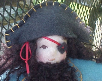 Pirate Waldorf Doll -  Boy or Girl, custom order