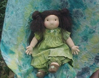 Broomstick Dress and Bloomers, Hand dyed for Waldorf Doll (or other doll)