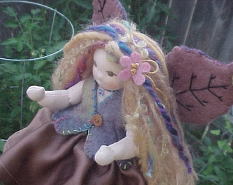 Fairy Companion, Custom 9 Inch Tall Waldorf Doll