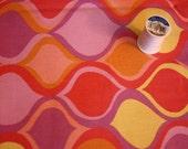 Home Decor Fabric 3 plus yards, pink, yellow, purple pattern