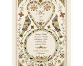 Folk art frameable greeting card print Blessing