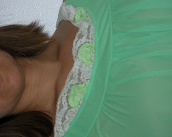 Vintage Lime-Green Night Gown