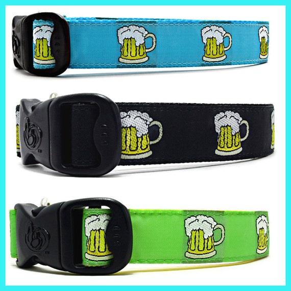 Designer  Manly Beer Dog Collar, Pink Beer Dog Collars, Ale dog Collars, Brewery Dog Collars,  Exclusive 3DD Design
