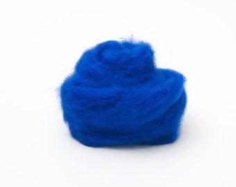 Blue Wool Roving for Felting - 1 oz. Corriedale