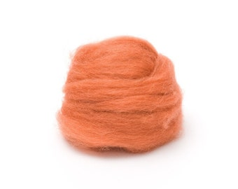 1 oz. Wool Roving for Felting - Copper