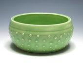 Small Pale Green Dotted Bowl