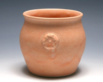 Pale Tangerine Vase with Flower