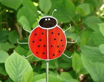 Ladybug Garden Stake