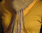 Soft handwoven thin scarf-- Mermaid (RESERVED for Michelle)