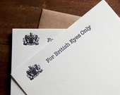 Arrested Development Card Letterpress Card Set Funny Boyfriend Gift Husband Gift For British Eyes Bluth James Bond Great Britain - Set of 4