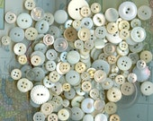 300 plus shell and other Vintage White and Off White Buttons