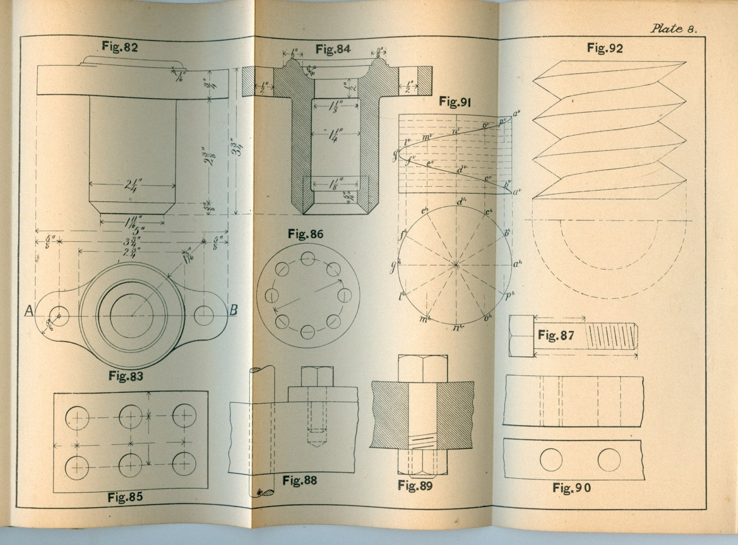 1894 mechanical drawing book for mit students small book for