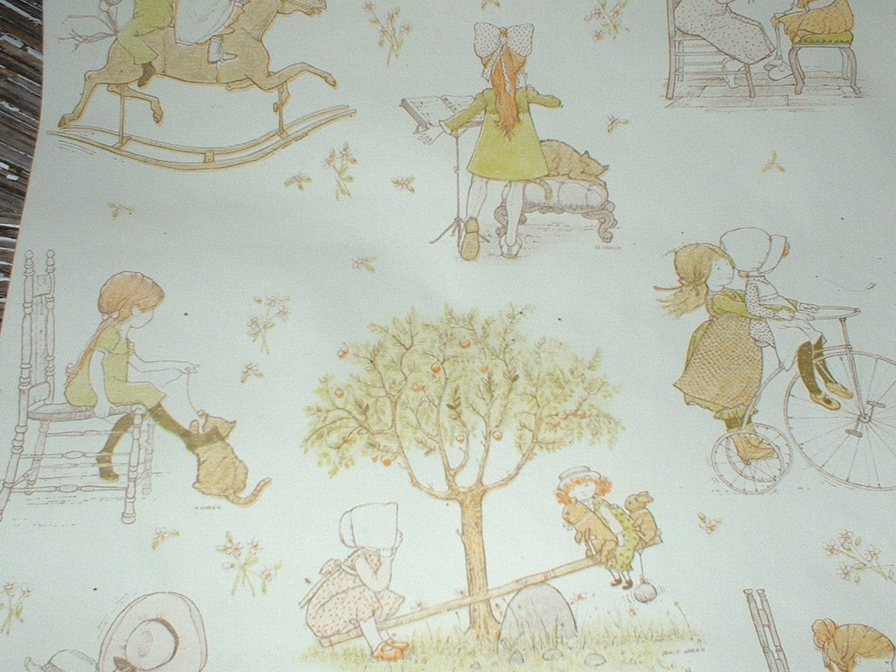 Vintage Holly Hobbie Wallpaper 60 X 24 For Your Artwork Mixed