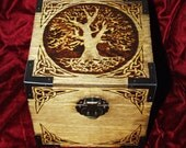 Celtic Knot Circle Tree Cube Box