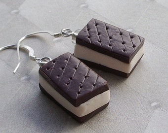 Ice Cream Sandwich Earrings