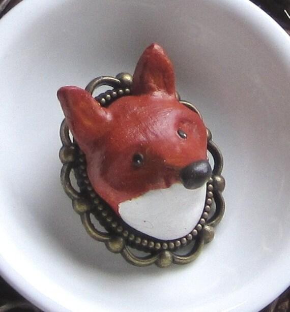 Woodland Red Fox Pin - Brooch