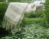 So soft Alpaca and linen scarf