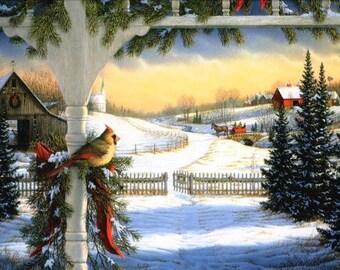 Winter Morning Cross Stitch Pattern PDF