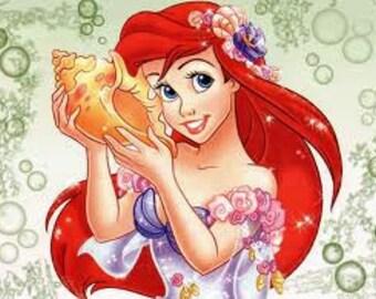 Ariel Little Mermaid Cross Stitch Pattern PDF