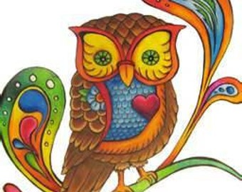 Retro Owl Cross Stitch Pattern PDF