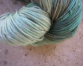 Hand Dyed Beautiful Greens Superwash Merino Sock Yarn