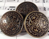 Large Antique-Look Brass Coat Buttons