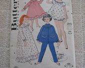 Vintage 50s Butterick 8251 Girls Nightgowns and Pajamas Pattern sz 8 B 26