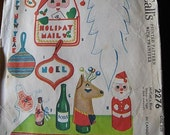 Vintage 50s McCalls 2276 Christmas Novelties Sewing Pattern