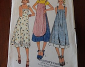 Vintage 70s Butterick 6138 Misses Dress Pattern with Overdress sz 8 B31.5