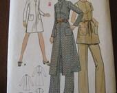 Vintage 70s Butterick 6006 Misses Dress and Pants Pattern sz 10 B32.5