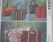 McCalls 3894 Fashion Accessories Purse Tote Handbag Pattern UNCUT