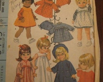 Vintage 60s McCalls 9449 Wardrobe for Chubby Baby And Toddler Dolls S, M, L