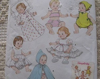 Simplicity Archives Baby Doll Pattern 3883 UNCUT