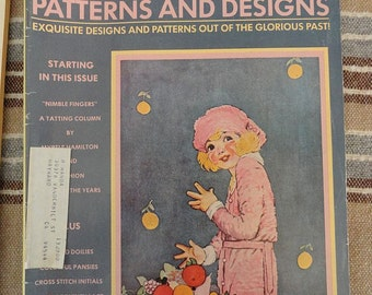 Vintage 70s Olde Time Needlework Patterns and Designs Magazine from 1974 1970s