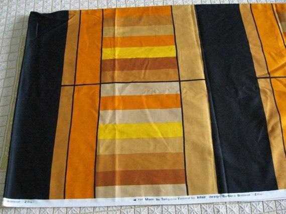Vintage 70s Tampella Finland Intair Fabric Barbara Brenner Huge Fabric Panel Piece ZIBU 64 x 114
