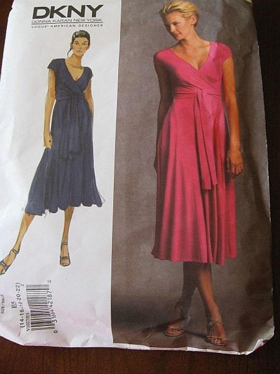 Vogue 1027 DKNY Misses Dress pattern sz 14-22 UNCUT