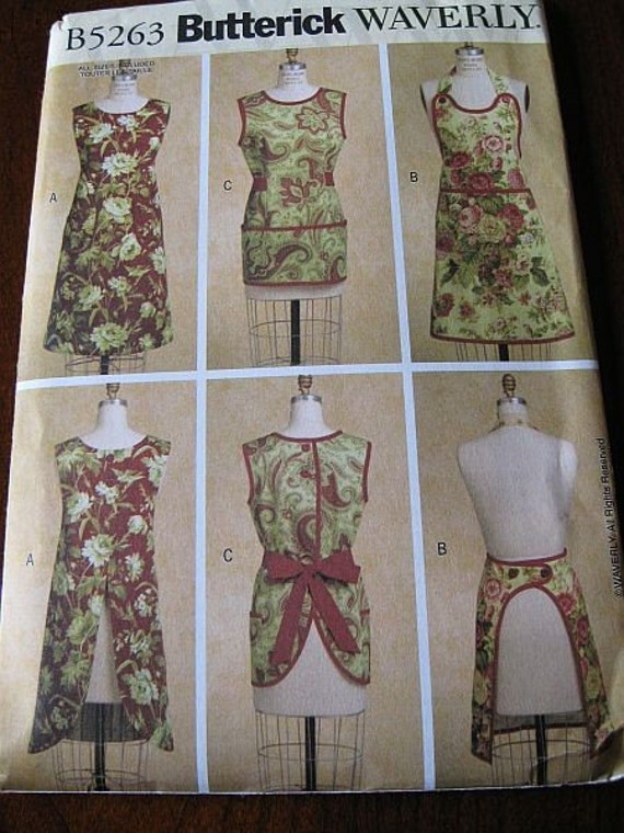 Butterick Waverly 5263 Easy Apron Pattern All sizes UNCUT