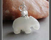 Cats Eye Hippo Hippopotamus Charm Zipper Pull