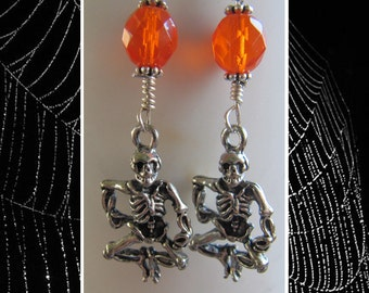 Halloween Dancing Disco Skeleton Earrings EHAG by Cornerstoregoddess