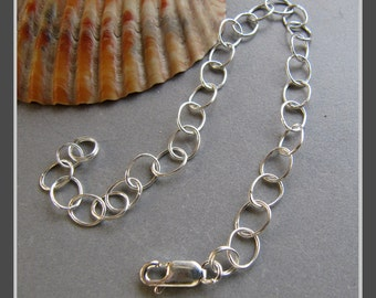 "Sterling Silver 7-1/2"" Starter Charm Bracelet"
