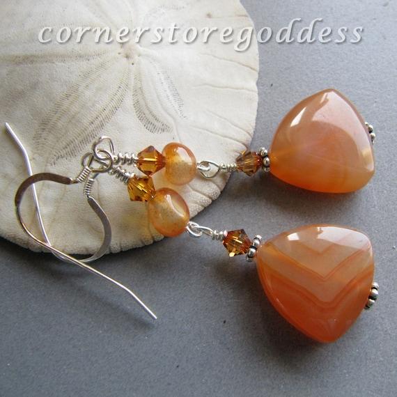 Renewal Gemstone Carnelian Earrings