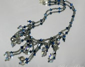 GOTH Swarovski Crystal and Seed Bead Necklace Gothic